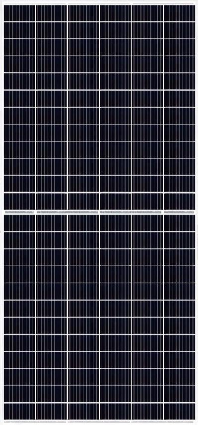 Solar panel - Mono crystalline x144 Half cut cells MBB - Silver color